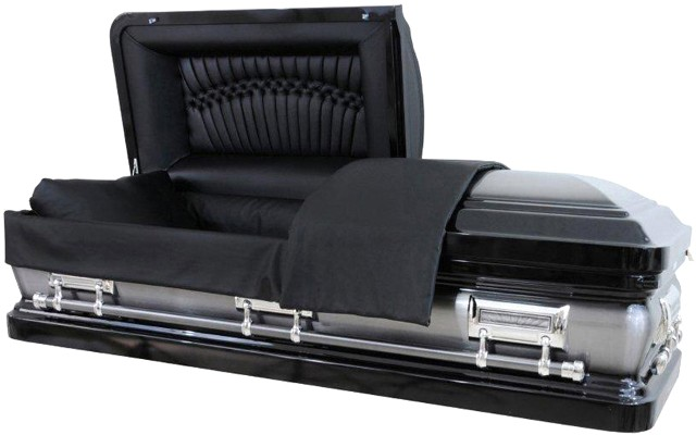 Discount funeral caskets discount funeral urns houston tx for Black casket with red interior