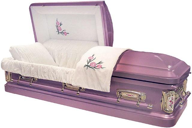 Wcbp8378sw Carnation Casket 18ga Lavender Casket Light